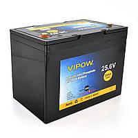 Аккумуляторная батарея Vipow LiFePO4 25,6V 30Ah со встроенной ВМS платой 25A