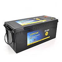 Аккумуляторная батарея Vipow LiFePO4 25,6V 100Ah со встроенной ВМS платой 80A