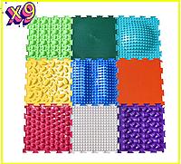 Ортопедический массажный коврик Ортодон 9 элементов. Развивающие игровые пазлы. Без запаха