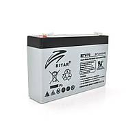Акумуляторна батарея AGM RITAR RT670, Gray Case, 6V 7.0Ah ( 151х34х94 (100) ) Q20