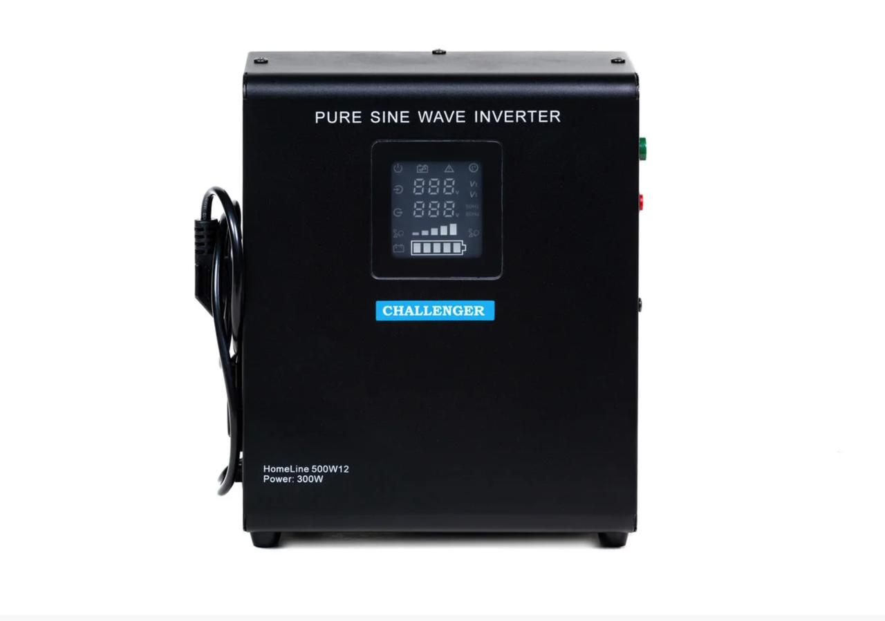 ИБП с правильной синусойдой  Challenger HomeLine 500W12 (350 ВТ),12 вольт под внешний аккумулятор