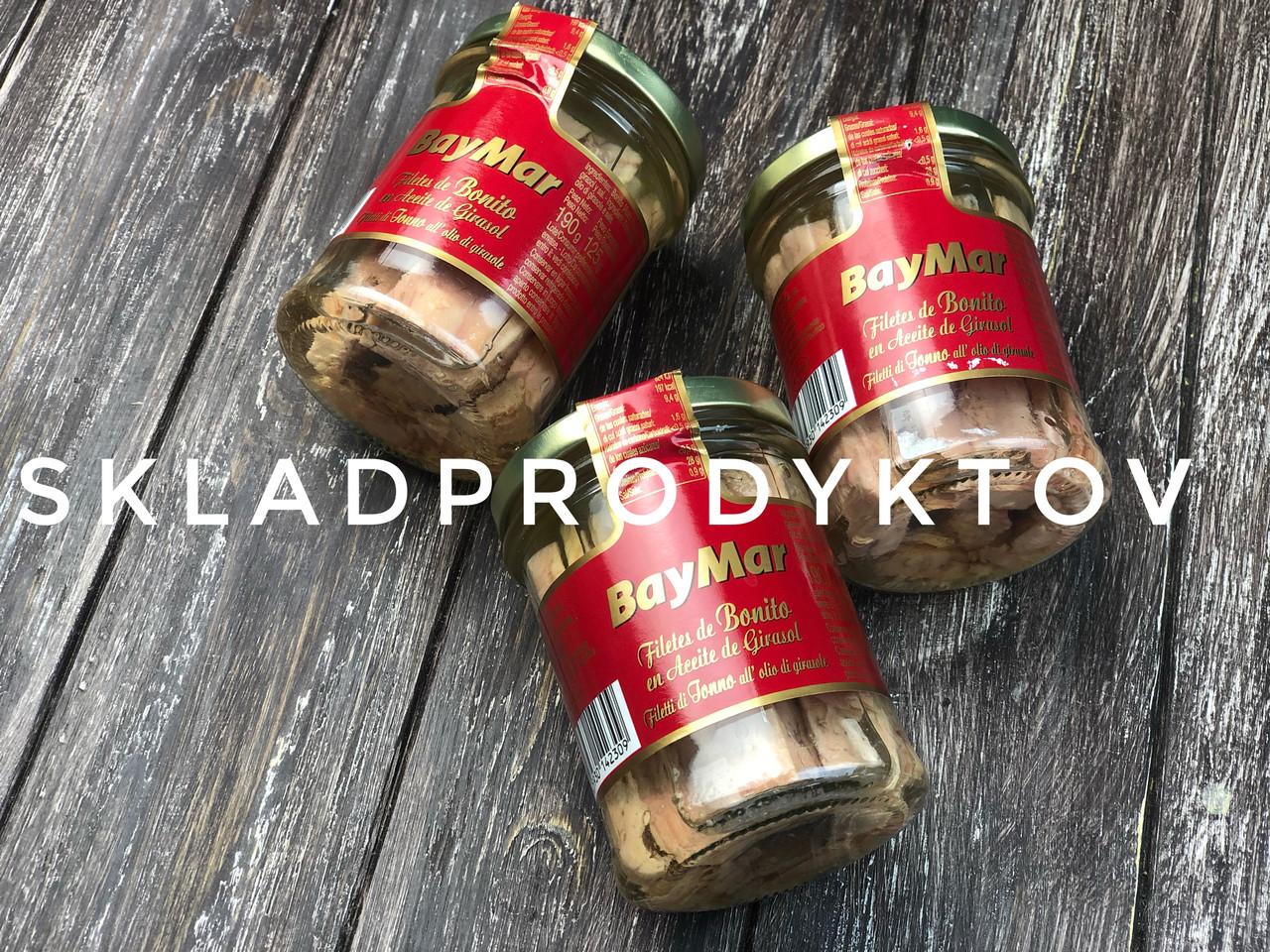 Отборные филе тунца BayMar в растительном масле 190 гр
