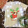 Мужская футболка с принтом - Новогодняя собака