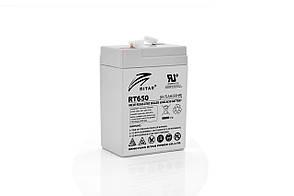 Акумуляторна батарея AGM RITAR RT650, Gray Case, 6V 5Ah (70х47х107 мм) Q20