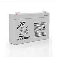 Акумуляторна батарея AGM RITAR RT680, Gray Case, 6V 8Ah ( 151х34х94 (100) ) Q12