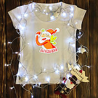 Женская футболка  с принтом - Дед Мороз - Фея