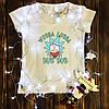 Женская футболка  с принтом - Рик с жевачкой