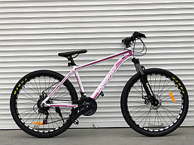 Двоколісний гірський спортивний велосипед 26 дюйма Toprider 680 рожевий