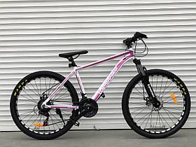 Спортивный двухколесный велосипед TopRider 680,розовый 26 дюймов, алюминиевый