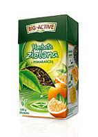 Зелёный чай с апельсином Big-Active – листовой 100 г.