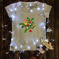 Женская футболка  с принтом - Ветка ёлки