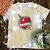 Чоловіча футболка з принтом - Серце з ножем