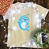 Чоловіча футболка з принтом - Дельфинорог