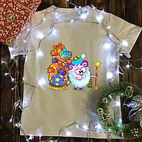 Мужская футболка с принтом - Дед Мороз  - Смешарик