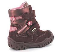 Зимние ботинки на липучке для девочки на цигейке Bartek Бартек р.р 22