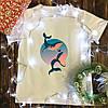 Мужская футболка с принтом - Киты
