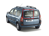 Стекло задней двери левое без подогрева XYG Dacia Logan универсал фаза 1/2
