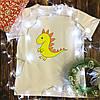 Чоловіча футболка з принтом - Динозаврик