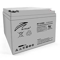 Акумуляторна батарея AGM RITAR RT12280, Gray Case, 12V 28Ah ( 166 х178 х125 ) Q1