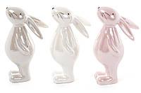 Пасхальна фігурка кролика з кераміки 14 см, 3 дизайну