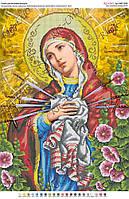 Схема для вышивки бисером Божа Мати Семистрільна Ружі