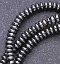 Бусины рондель Гематит размер 4*2мм, 1 уп - 10 шт \ byc - 4 - 008