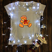 Женская футболка  с принтом - Человек печенюшка