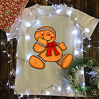 Мужская футболка с принтом - Человек печенюшка