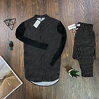 Мужской комплект Asos рубашка в полоску и брюки в полоску, костюм стильный