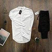 Мужской комплект Asos рубашка белая и брюки черные, костюм стильный