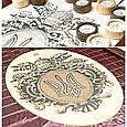 """Нарди середні дерев'яні з шкіряними накладками і комплектуються фішками з дерева і шкіри """"Тризуб"""", фото 2"""