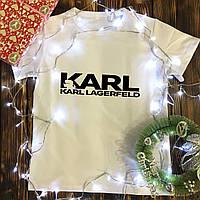 Чоловіча футболка з принтом - Karl Lagerfeld