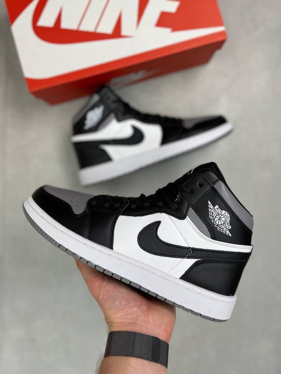Мужские кроссовки Air Jordan 1 High White/Black/Gray  41   42   43   44   45   46