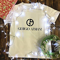 Чоловіча футболка з принтом - Giorgio Armani