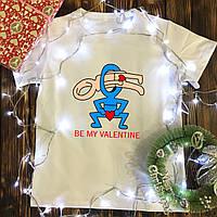 Чоловіча футболка з принтом - Be my valentine