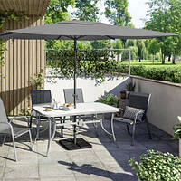 Зонт садовый пляжный прямоугольный 2х3 метра серый