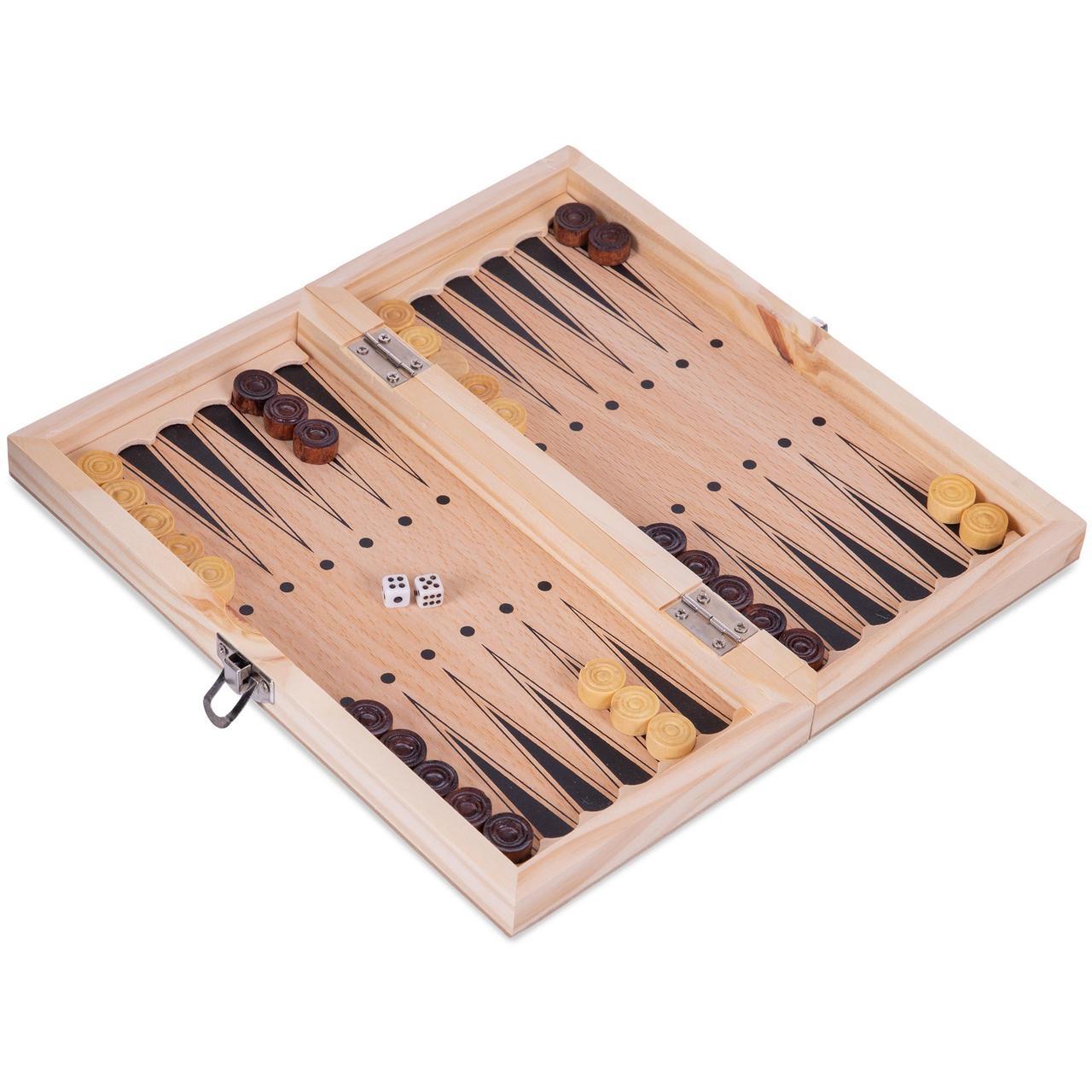 Нарды настольная игра деревянные 24 x 24 см W7710
