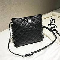 Сумка  женская, сумка на плечо, Сумка из кожзама Черная  FS-3722-10