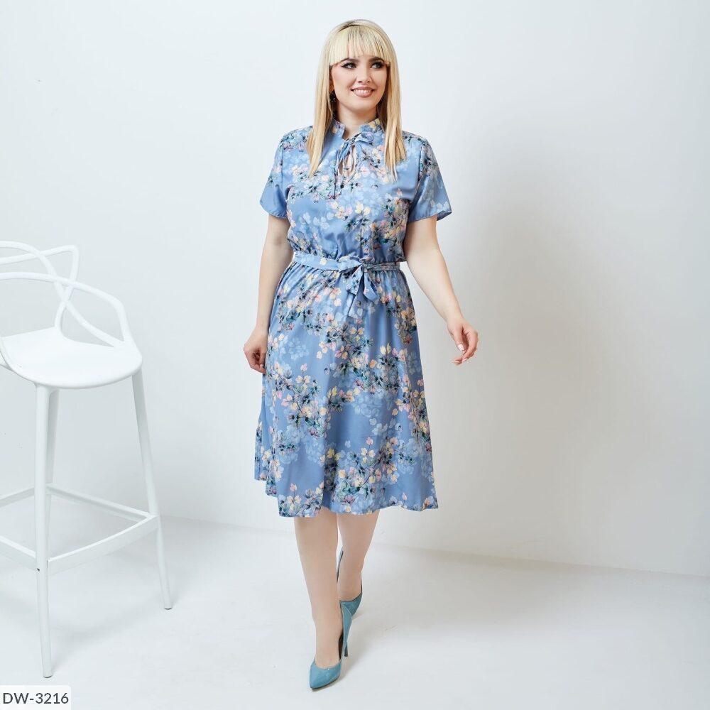 Платье софт с цветочным принтом