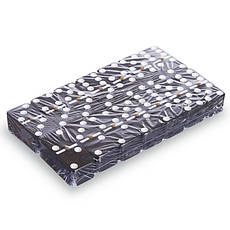 Шахматы, домино, карты 3 в 1 деревянные черные  24 x 24 см W2650, фото 3