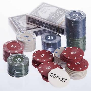 Шахи, покер 2 в 1 дерев'яні 24 x 24 см чорні W2624, фото 2