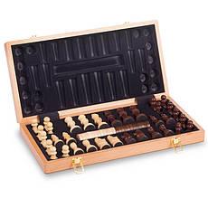 Шахматы, шашки 2 в 1 деревянные 43 x 43 см W9042, фото 3