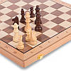 Шахматы, шашки 2 в 1 деревянные 43 x 43 см W9042, фото 2