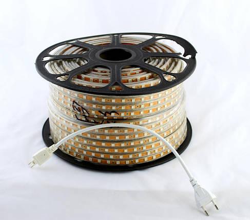 Світлодіодна LED стрічка 5050 WW 100m 220V (теплий білий діод), фото 2