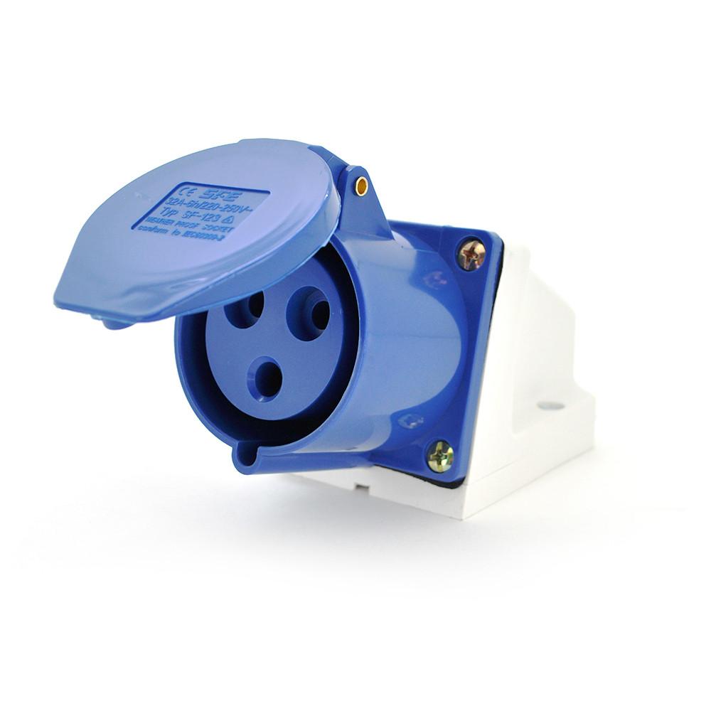 Розетка кабельная накладная SF-113, 3 контакта, 2Р+E, 16А, 380V, IP44