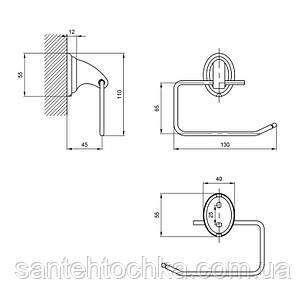 Тримач для туалетного паперу Lidz (CRM)-113.03.03, фото 2