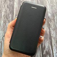 Чехол книга для iPhone 5 5S SE с эко кожи с подставкой магнитом книжка на телефон айфон 5 5с се черная STN