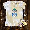 Женская футболка  с принтом - Зимний мопс