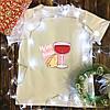 Чоловіча футболка з принтом - Вино з сиром