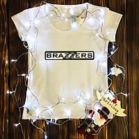 Женская футболка  с принтом - Brazzers